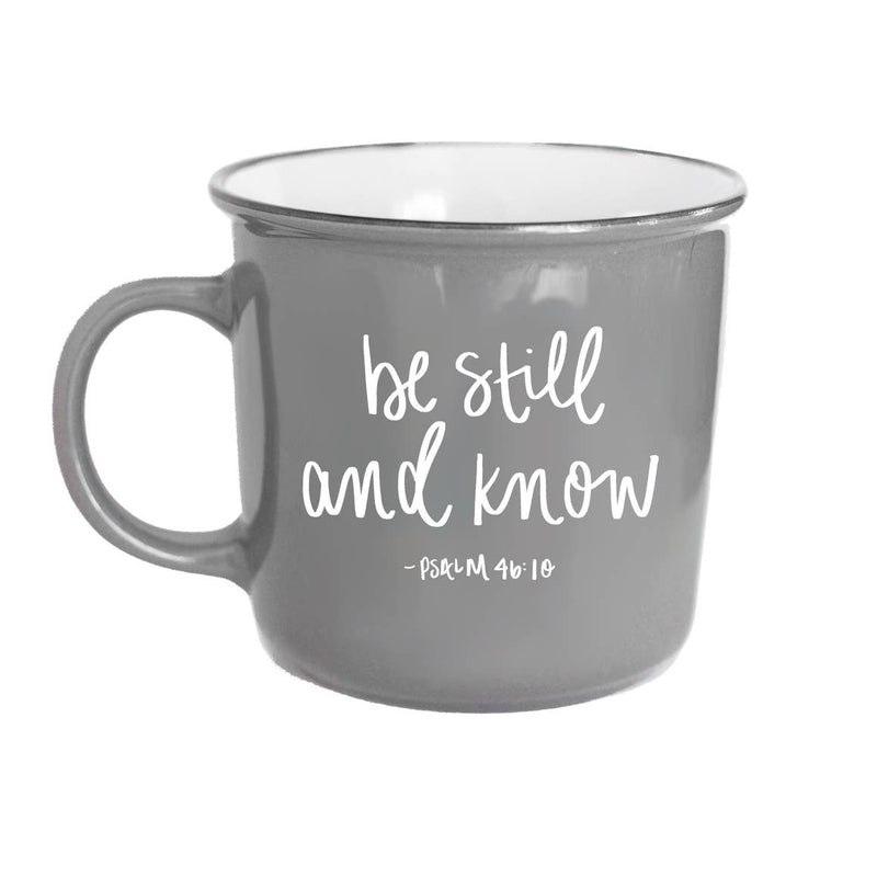 Be Still And Know Psalm 46:10 Scripture Campfire Coffee Mug