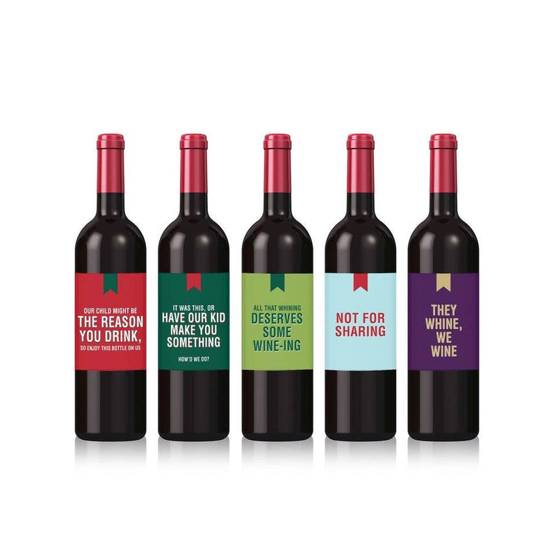 Funny Christmas Wine Labels