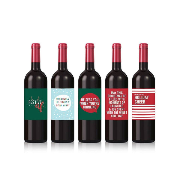 Funny Holiday Wine Labels