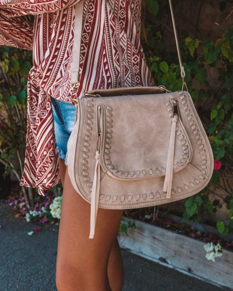 Kylie Messenger Bag - Natural