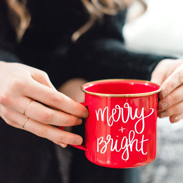 Merry and Bright Campfire Coffee Mug