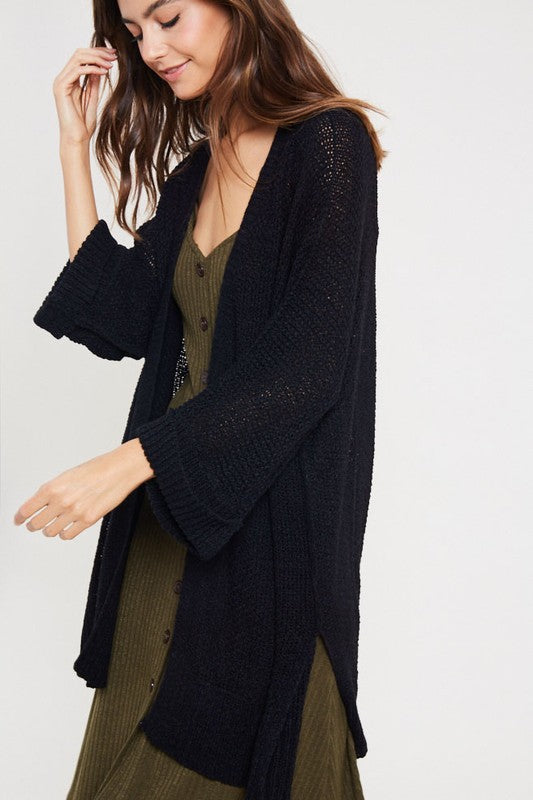Hooked on You Cardigan - Black