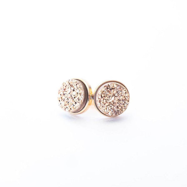 Rose Gold Druzy Clusters Earrings