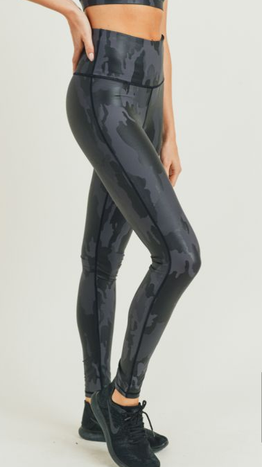 Patriot Camo Foil Leggings