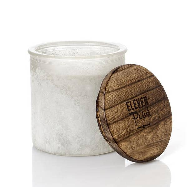 Silver Birch White River Rock Candle
