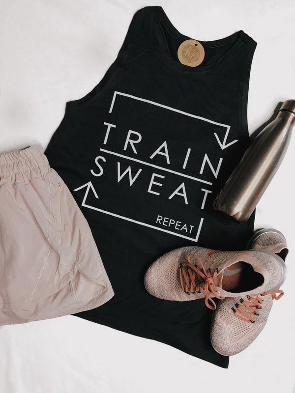 Train, Sweat, Repeat Tank