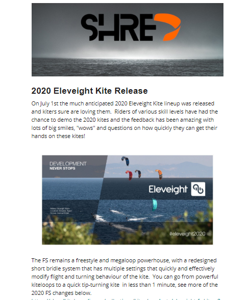 2020 Eleveight Kites and 2019 Clearance Sale Alert!!