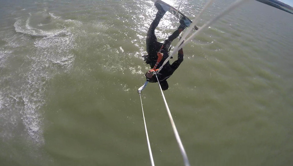 Freestyle Kiting and Kitesurfing Video Clip of Shred Kiteboarding's Owner/Kiteboarder