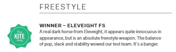 Eleveight FS Kite - The Kitemag Test Freestyle Kite Winner