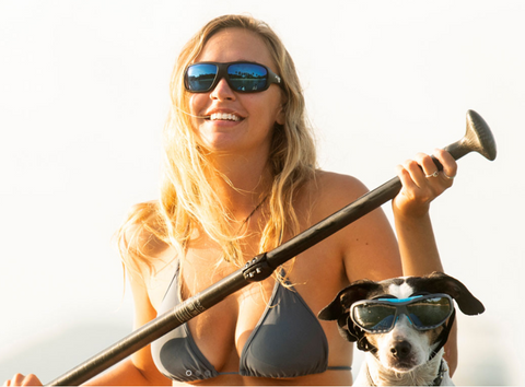 Lip Flo Sunglasses | The Universal Floating Watershade for water sports