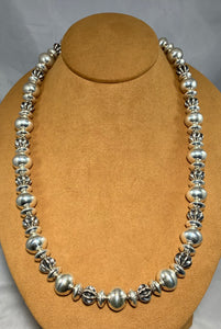 Fluted Navajo Bead Necklace by Bryan Joe