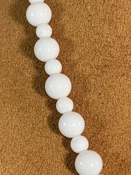 White Coral Necklace by Gloria Sawin Fine Jewelry