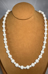 Long White Coral Necklace by Gloria Sawin Fine Jewelry
