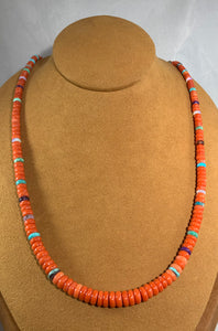 Hand Carved Coral Bead Necklace by Bruce Eckhardt
