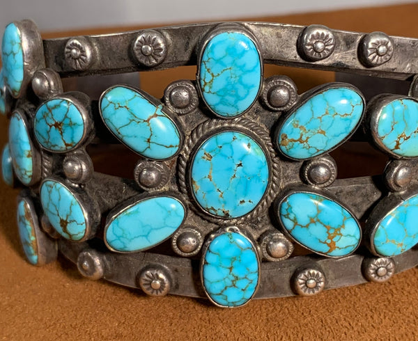 Vintage # 8 Turquoise Cuff (1940s)