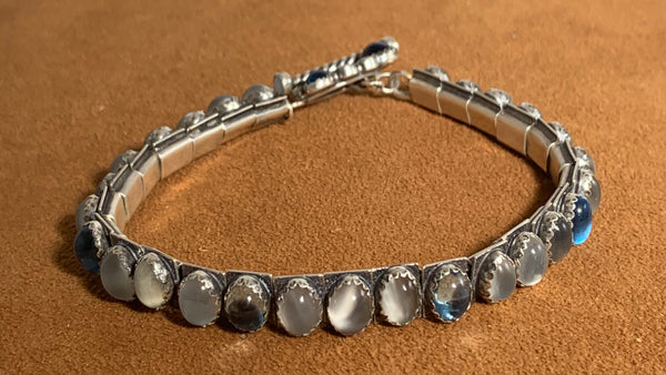 Aquamarine Tennis Bracelet by Emory