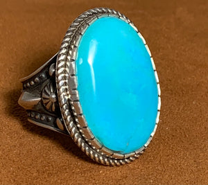 Castle Dome Turquoise Ring by Bruce Eckhardt