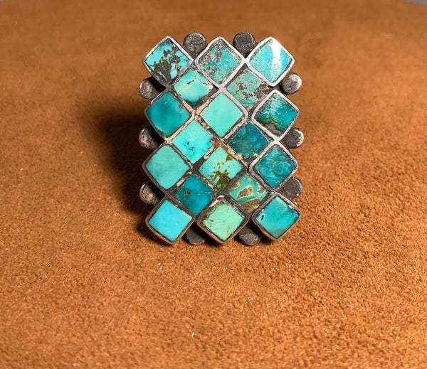 Turquoise Inlay Ring by Jock Favour