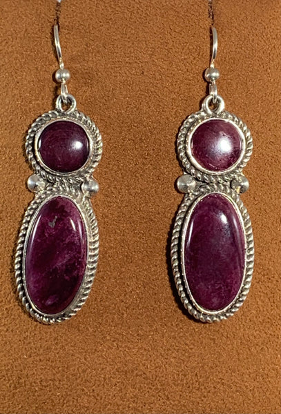 Sugilite Earrings by Albert Lee