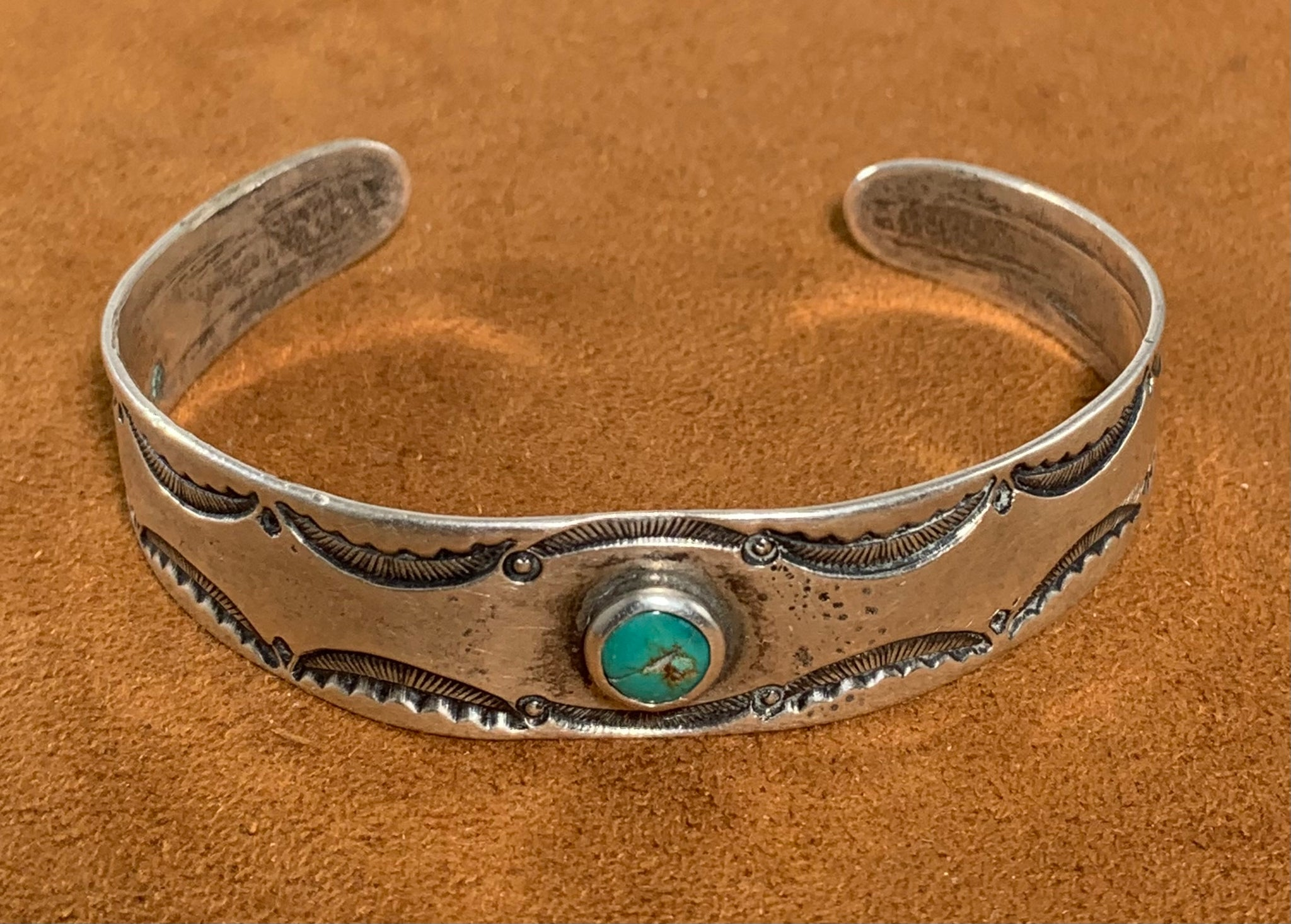 Silver Turquoise Vintage Cuff