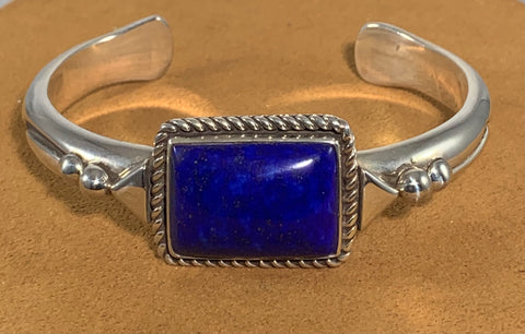 Lapis Sterling Silver Cuff by Albert Lee