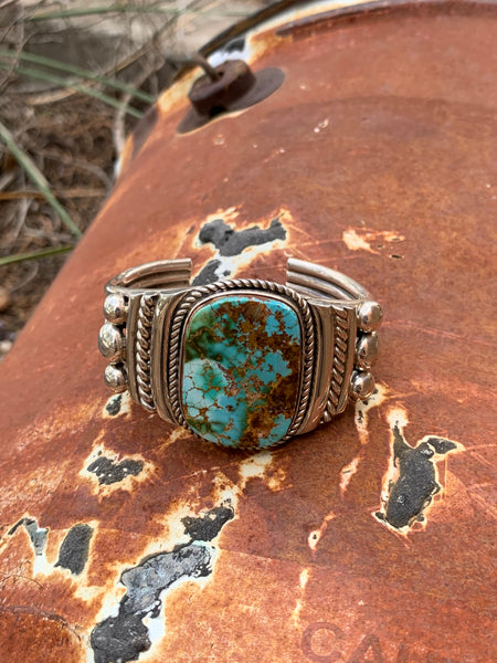 Mystical Turquoise Cuff by Albert Lee