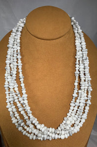Five Strand White Buffalo Necklace by Don Lucas