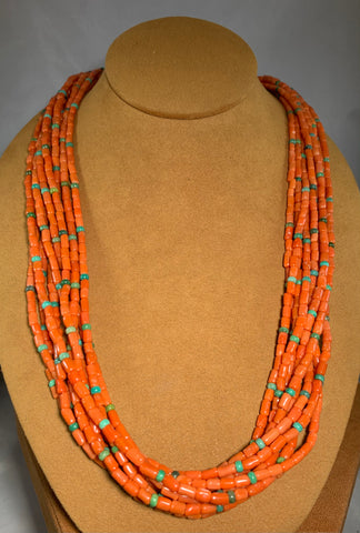 Nine Strand Coral Necklace by Don Lucas