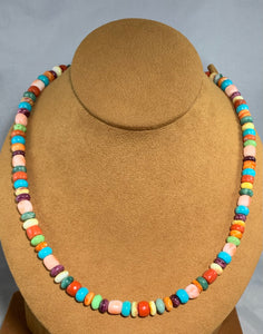Multi Semi Precious Stone Necklace by Don Lucas