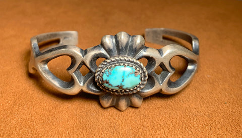Heart Turquoise Cuff by Reginald Mitchell