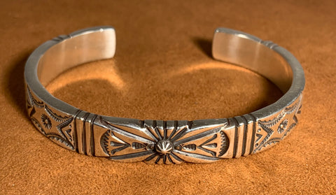 Heavy Gauge Stamped Sterling Silver Cuff By Kevin Randall Studios
