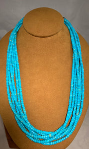 Turquoise Bead Necklace  by Don Lucas