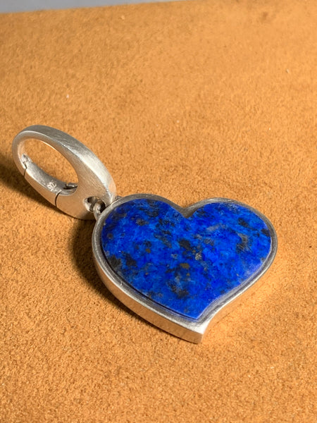 Lapis Heart Pendant by Gloria Sawin