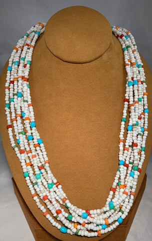 Multi-Stone Howlite Necklace by Don Lucas