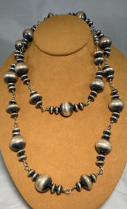 Long Navajo Bead Necklace by Veltenia Haley