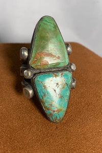 Two Stone Turquoise Ring by Jock Favour