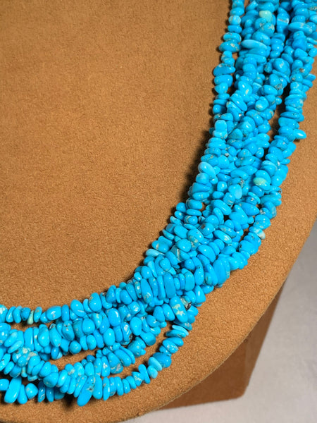 Natural Turquoise Necklace by Don Lucas
