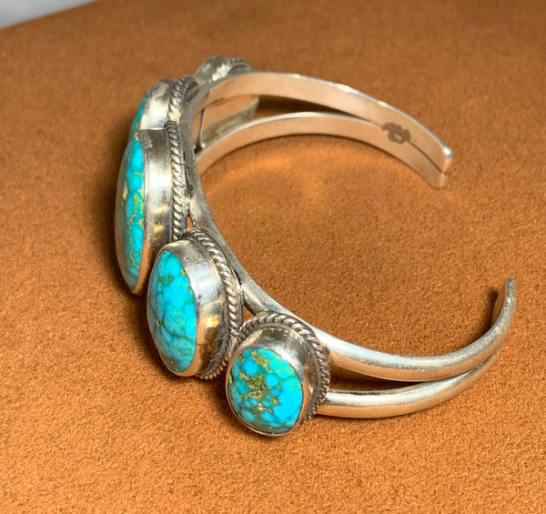 Kingman Turquoise Cuff by Don Lucas