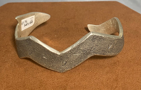 Arrowhead Lightning Sand Cast Cuff by Ira Custer