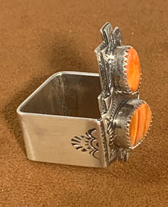 Spiny Oyster Square Ring by Teresa Archibeque