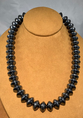 Black Navajo Pearl Necklace by Veltenia Haley