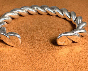 Twisted Silver Cuff by Albert Lee