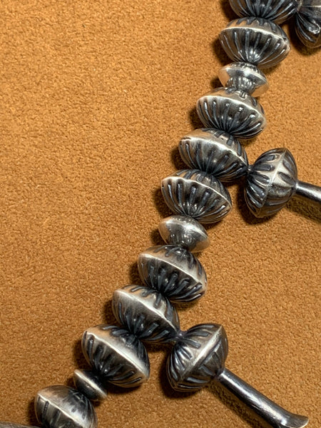Navajo Pearl Mini Squash Necklace with Fancy Naja by Ruby Haley