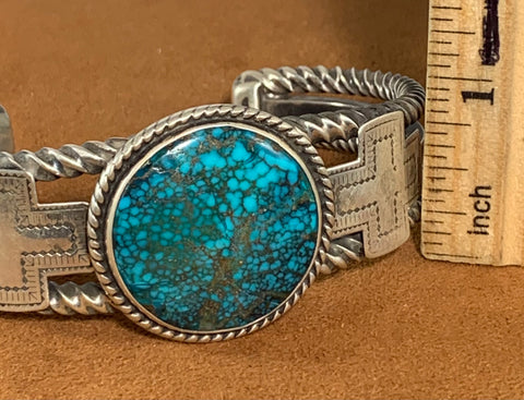 Bisbee Turquoise Twisted Cuff by Tom DeWitt