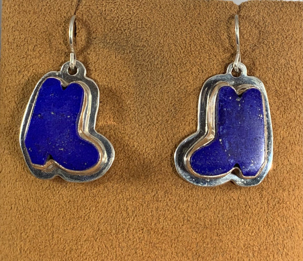 Lapis Boot Earrings by Kevin Randall Studios