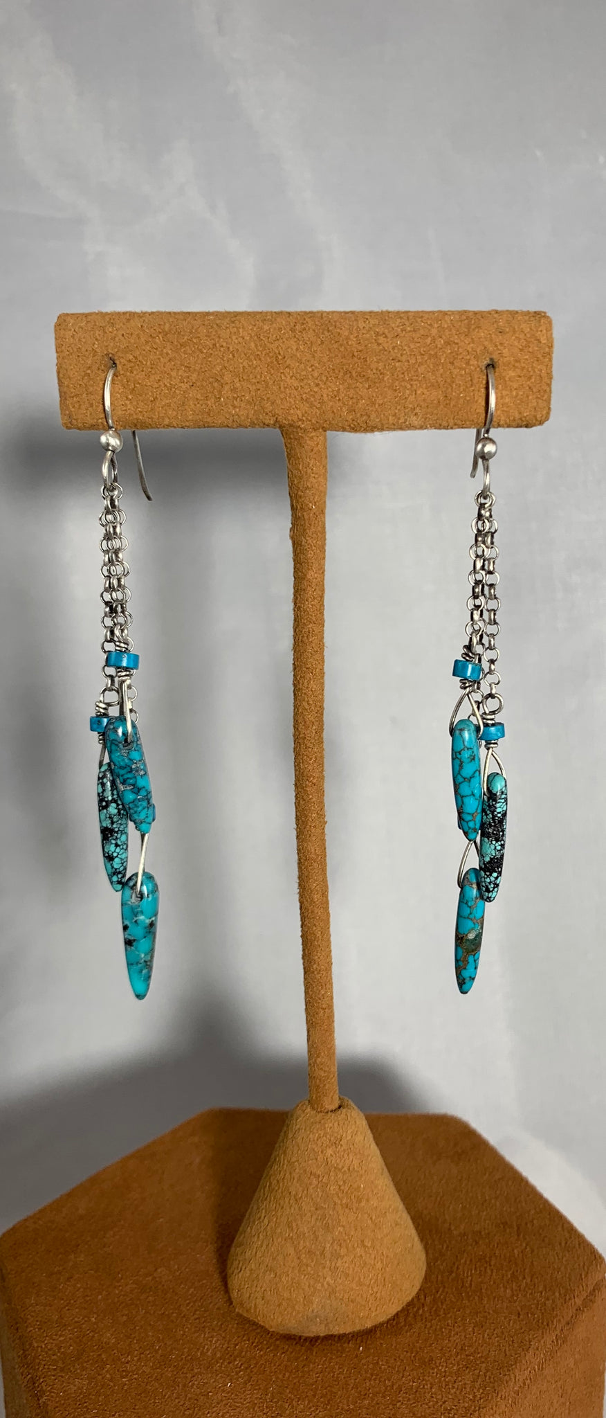 Triple Turquoise Dangle by Gloria Sawin