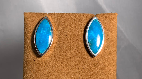 Marquis Turquoise Post Earrings by Gloria Sawin