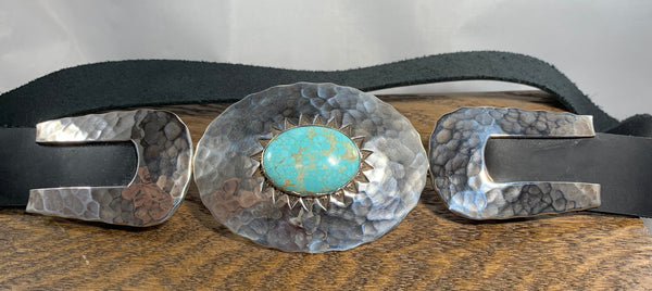 Sterling Silver Turquoise Belt by Clif Doran