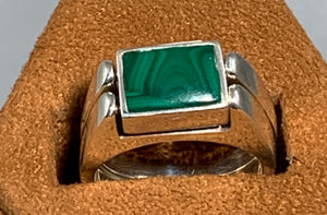 Sugilite and Malachite reversible Ring by Gloria Sawin