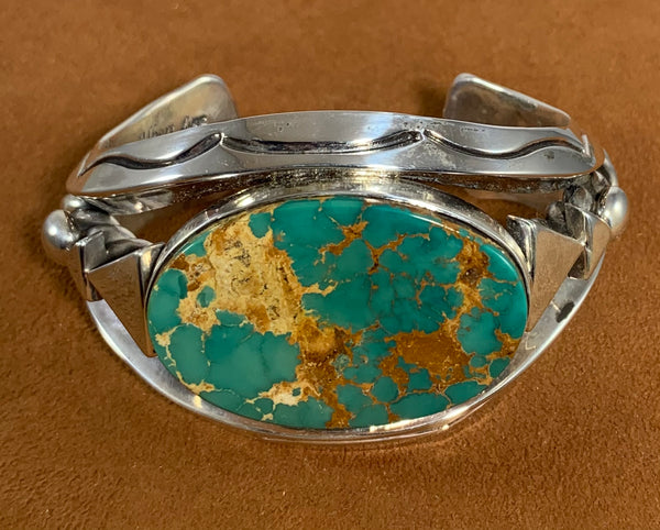 Green Royston Turquoise Cuff by Albert Lee